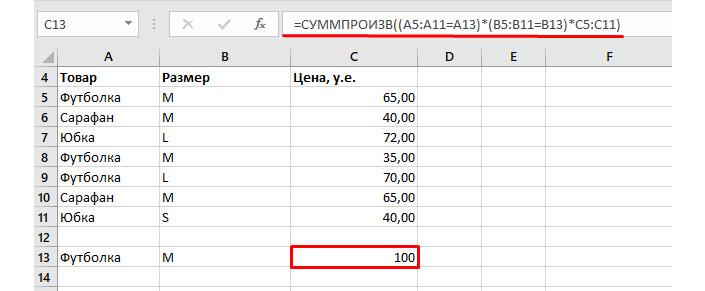 формулы excel для экономистов